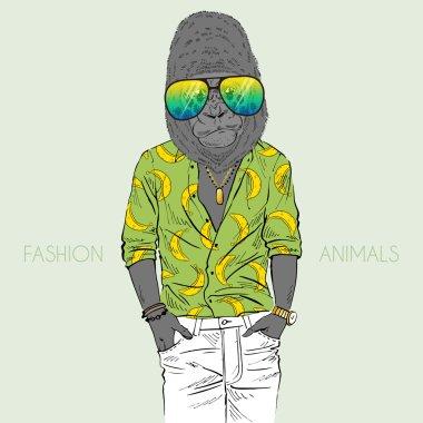 Fashion animal illustration
