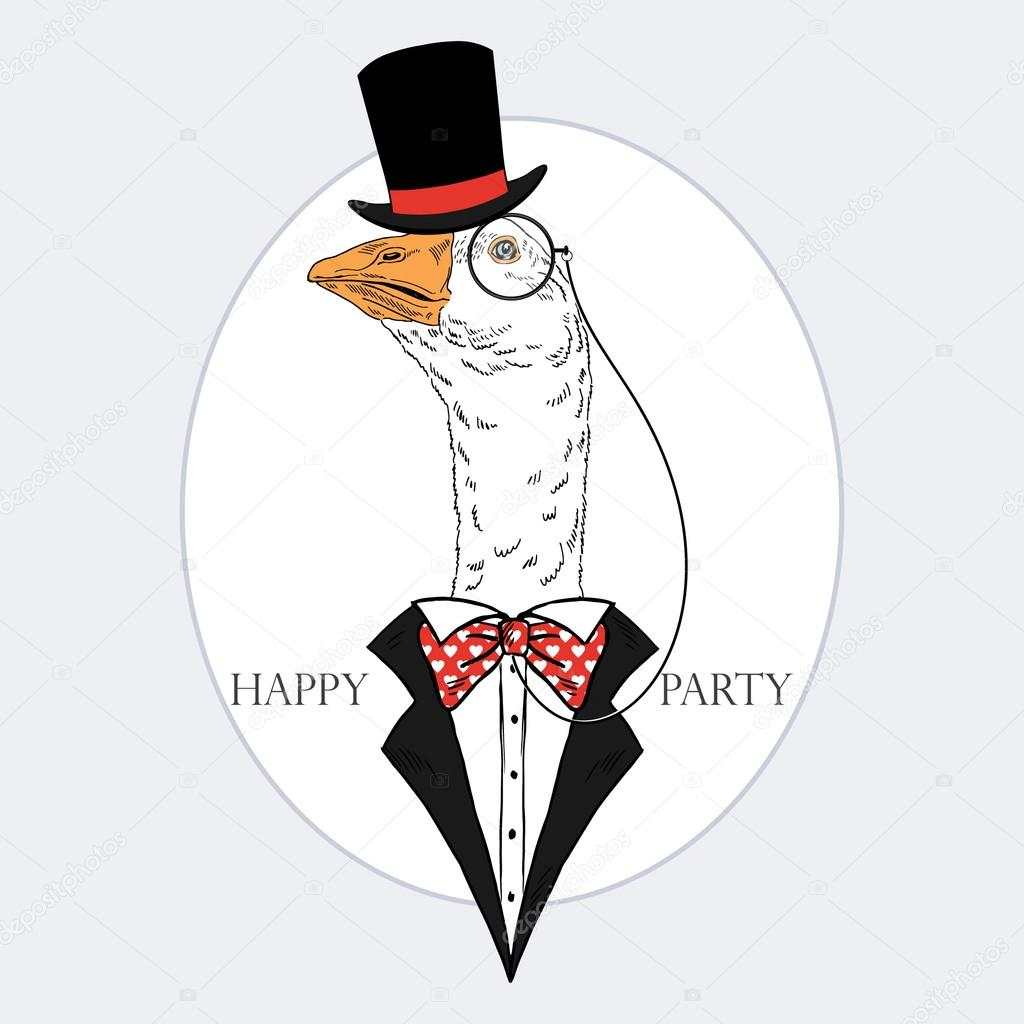 goose in party style