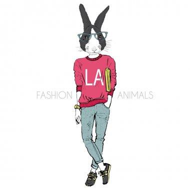 bunny girl in urban style