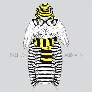 fashion bunny hipster