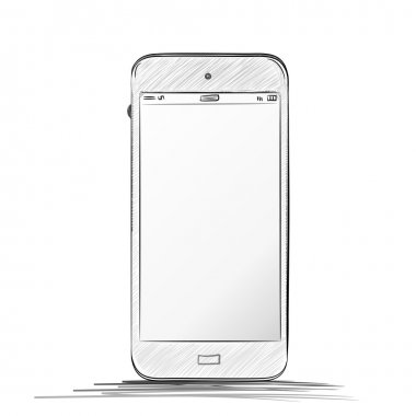 Mobile Phone Hand drawn Vector