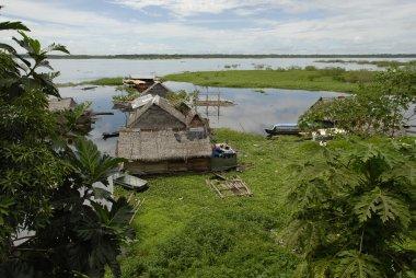 View on Itaya River, Iquitos, Peru.
