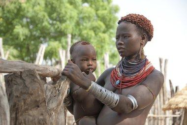 Portrait of Karo woman, Colcho, Omo Valley, Ethiopia.