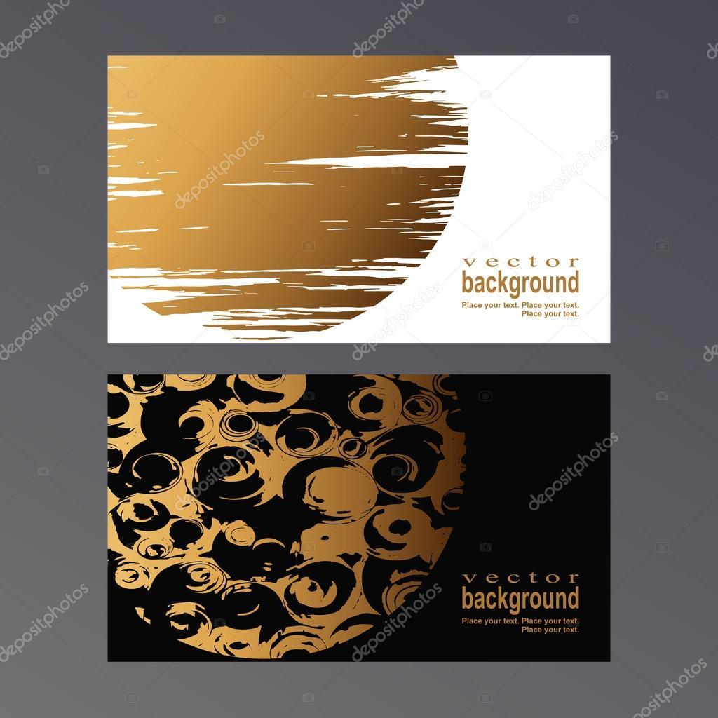 golden vcard — Stock Vector © Vasimila #68599887