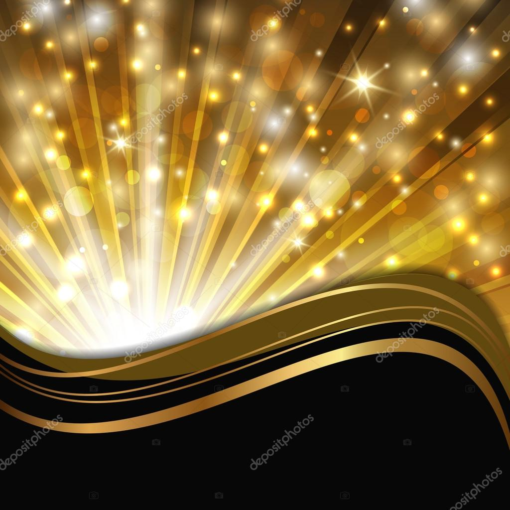 Gold On Black Stock Vector C Vasimila 89089408
