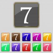 Číslo sedm ikon