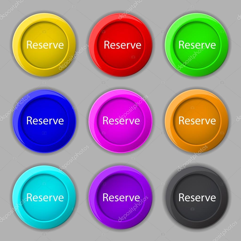 Icono muestra reservada — Vector de stock © Logvinyk #60144915