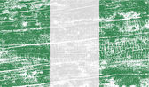 Fotografie Flag of Nigeria with old texture. Vector
