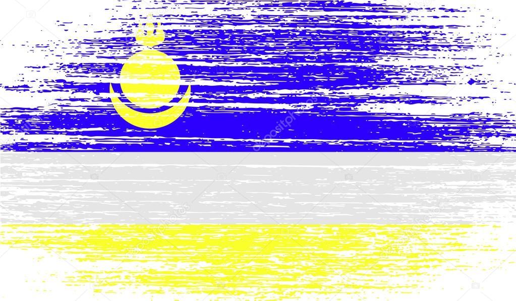 Flag of Buryatia with old texture. Vector