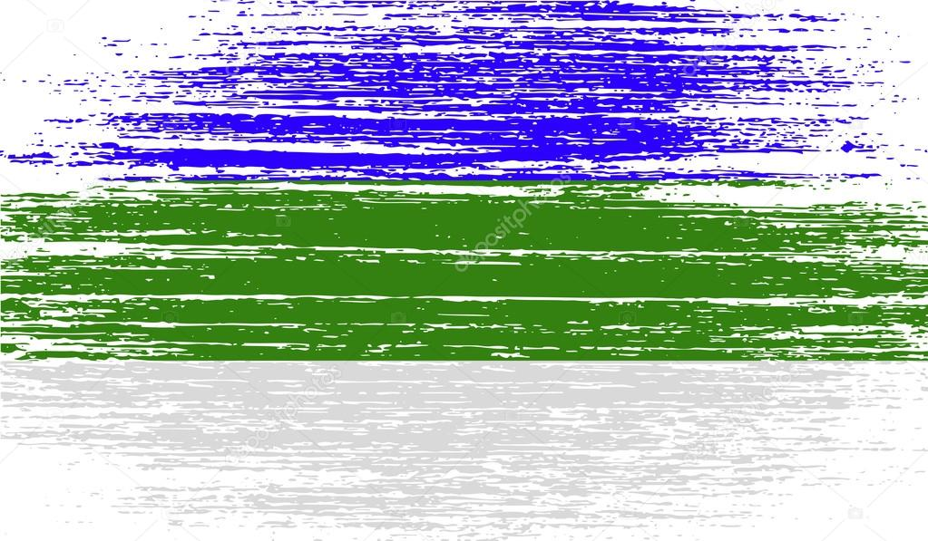 Flag of Komi with old texture. Vector