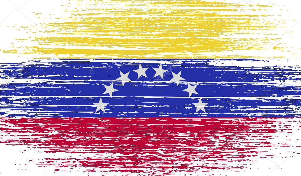 Flag Of Venezuela With Old Texture Vector Stock Vector C Logvinyk