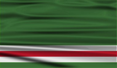 Flag of Chechen Republic of Ichkeria with old texture. Vector