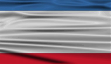 Flag of Crimea with old texture. Vector