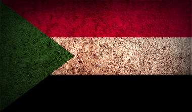 Flag of Sudan with old texture