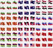 Fotografie Bulgaria, Montserrat, Egypt, Republic of Macedonia, Antigua and Barbuda, Slovenia, Mauritius, Bikini Atoll, China. Big set of 81 flags. Vector
