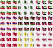 Fotografie Tatarstan, Algeria, United Arab Emirates, Karabakh Republic, Kenya, Antigua and Barbuda, Turkey, Vatican CityHoly See, Georgia. Big set of 81 flags. Vector