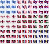 Fotografie Somalia, Puerto Rico, Cambodia, England, Maldives, Jordan, Antigua and Barbuda, Mongolia, Barbados. Big set of 81 flags. Vector