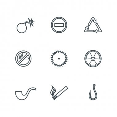 Set of linear icons