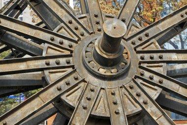 big wheel model building in the kailuan national mine park, Chin