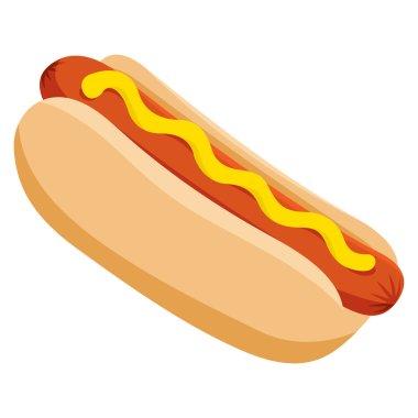 Vector Delicious Hot Dog