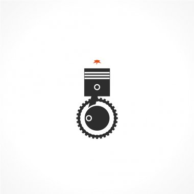 internal combustion engine vector icon