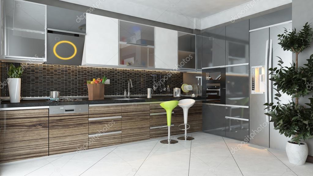 Modern Kitchen Interior Design Stock Photo Sseven 96040004