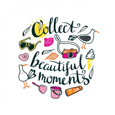 Summer things with stylish lettering