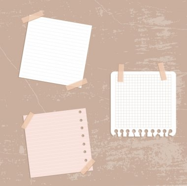Set of note papers.