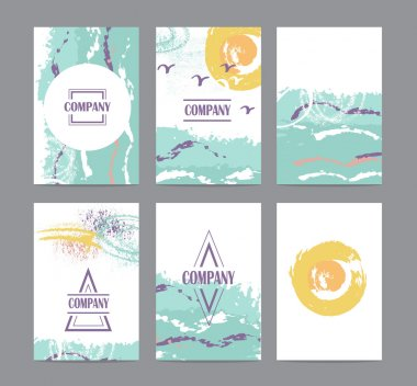 Collection of six cute universal cards
