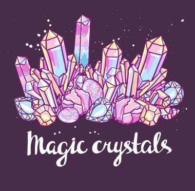 Bright magic crystals