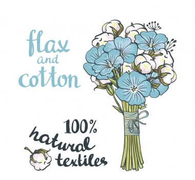 flax and cotton flowers