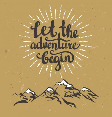 Let the adventure begin background