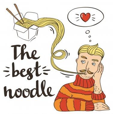 Hipster pasta noodles