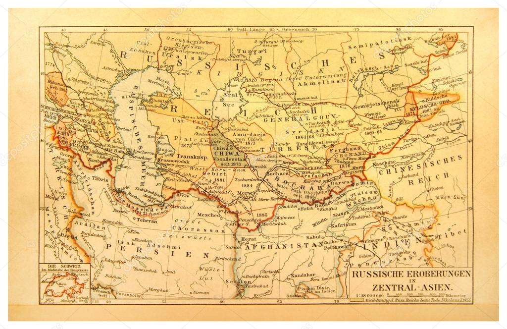 Old map the conquest of russia in central asia stock photo old map the conquest of russia in central asia stock photo publicscrutiny Gallery