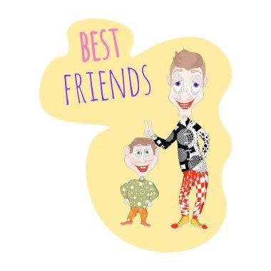 """Картина, постер, плакат, фотообои """"лучшие друзья в мире"""", артикул 445890056"""