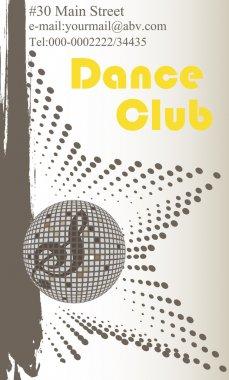Vertical dance club business card