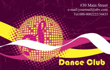 Pink background for dance club