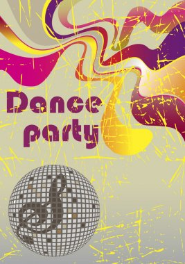 Abstract dance poster