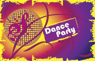 Dance party.Invitation card.