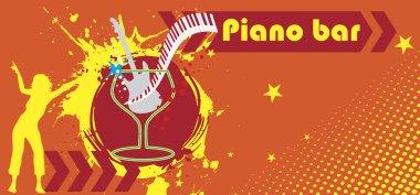 Piano bar banner