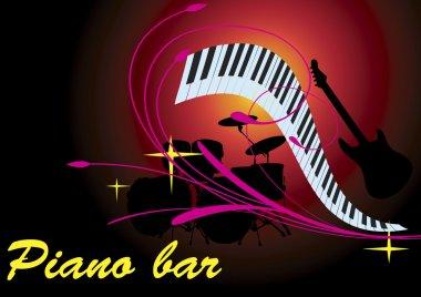 Pink piano bar