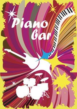 Colorful piano bar