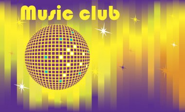 Abstract dance club banner
