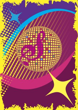 Abstract dance poster.Party and music club.Music background.