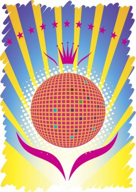 Abstract party poster.Dance background