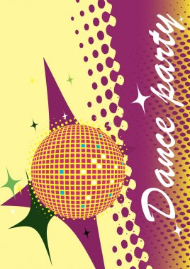 Abstract dance poster.Party invitation.Music club