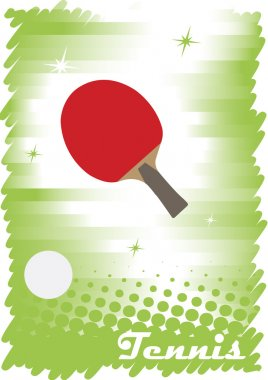 Red tennis court.Abstract vertical banner
