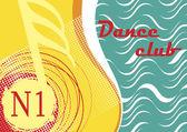 Horizontální taneční klub banner s motivem moře