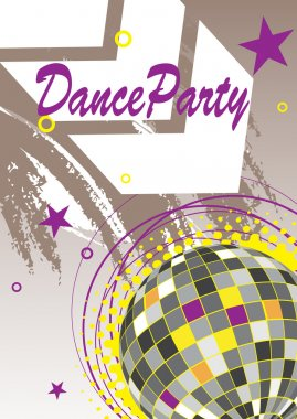 Dance party poster with arrow