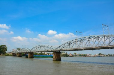 Old railway bridge in Vietnam